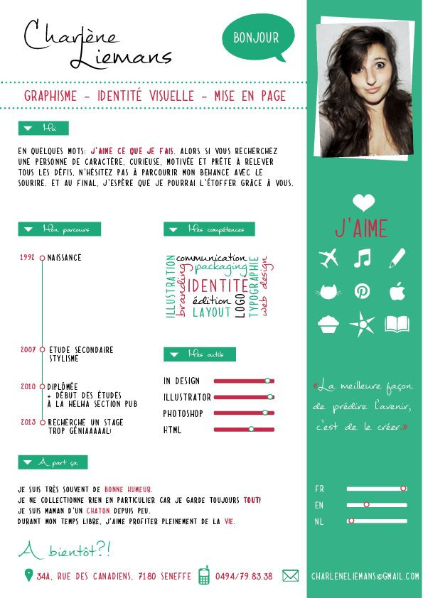 69 best CV images on Pinterest Page layout, Resume and Creative - creative resume headers