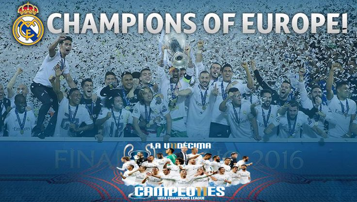Real Madrid win the UEFA Champions League for the 11th time ~ HeybiroBlog