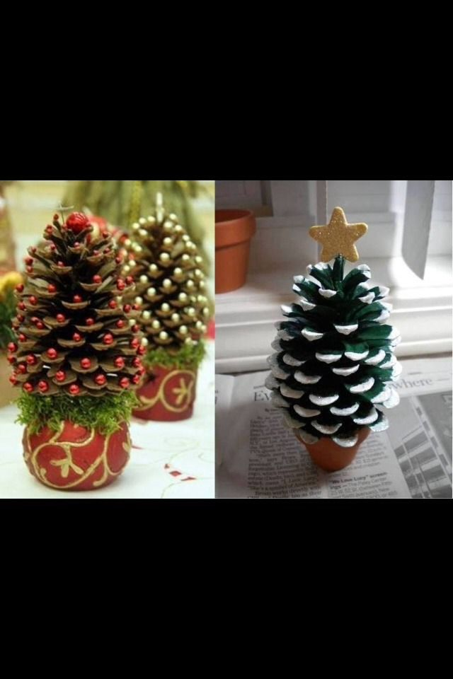 Kids crafts pine cone christmas tree christmas for Pine cone christmas tree craft