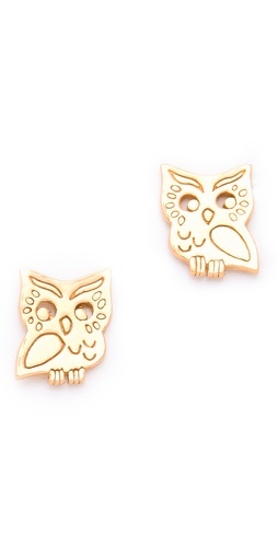 How cute - Gorjana Owl Stud Earrings