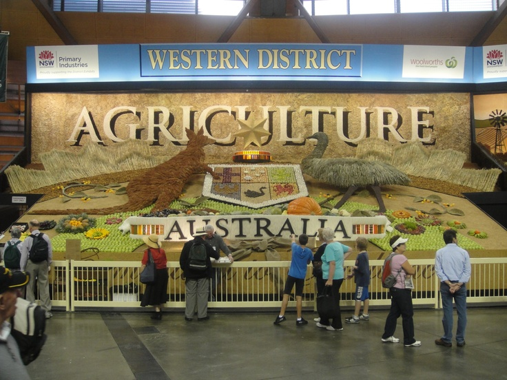 Sydney Royal Easter Show agricultural districts