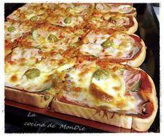 estupenda cena* con esta pizza de pan