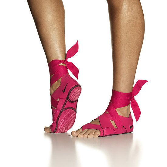 Nike Studio Wraps for more support during yoga. These are too cute!