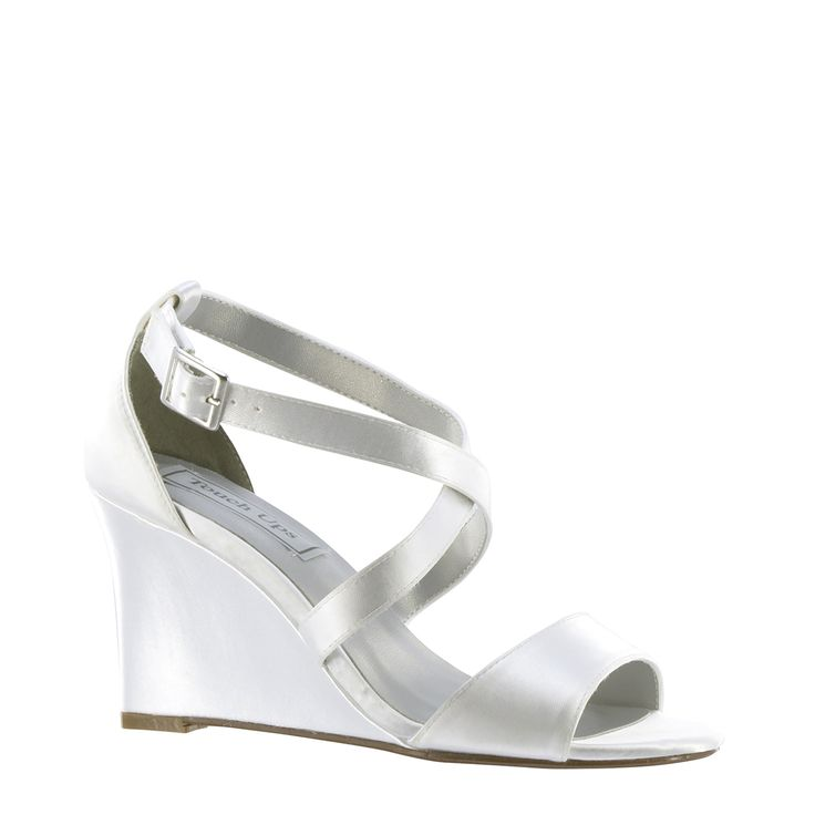 Jenna by Touch up in White. Jenna is the perfect wedding wedge for your special day. The supportive and comfortable design of the Jenna wedding wedges