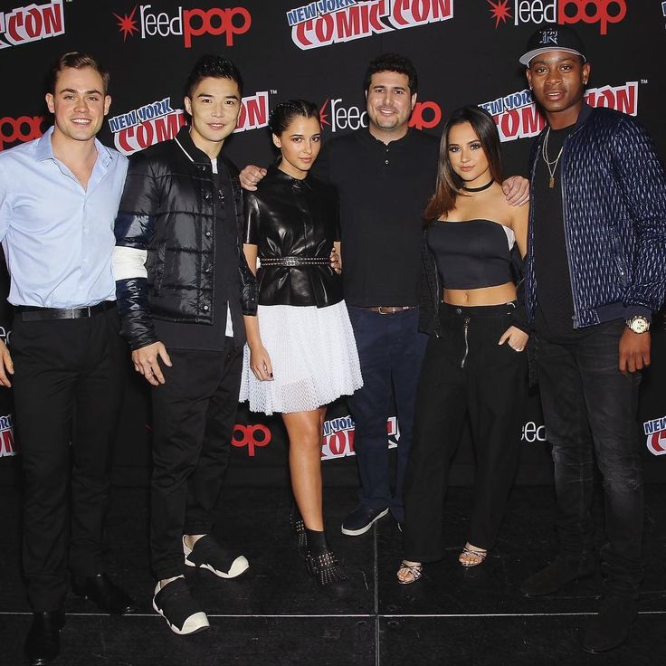 Becky G with her Power Rangers family