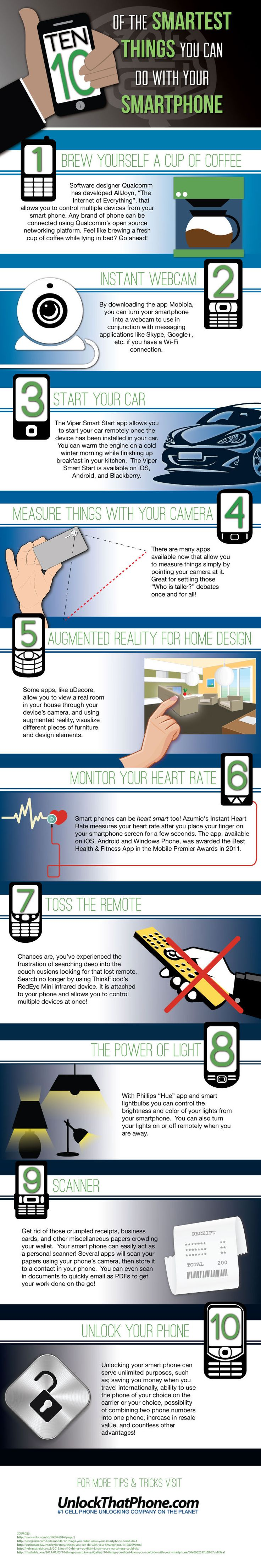 10 Really Smart Things You Can Do With Your Smartphone #infographic
