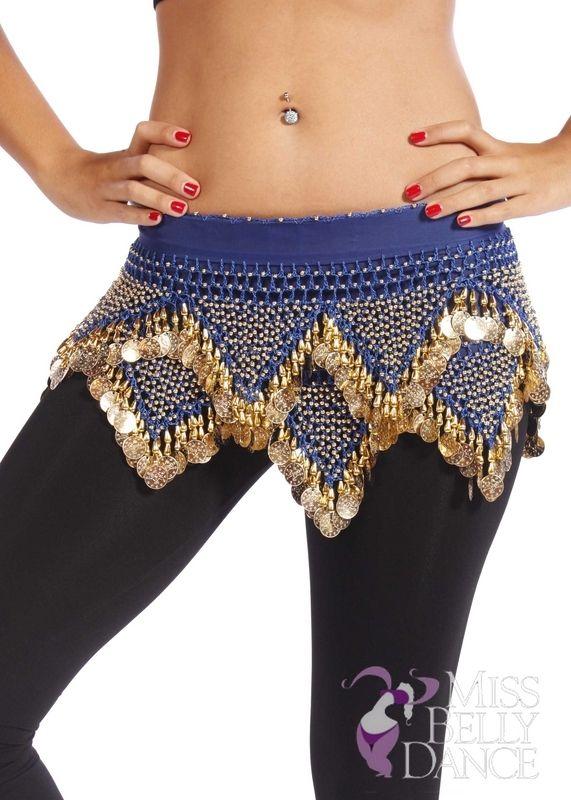 $19.99 - Belly Dance Chiffon Hip Scarf - Masriole - missbellydance.com