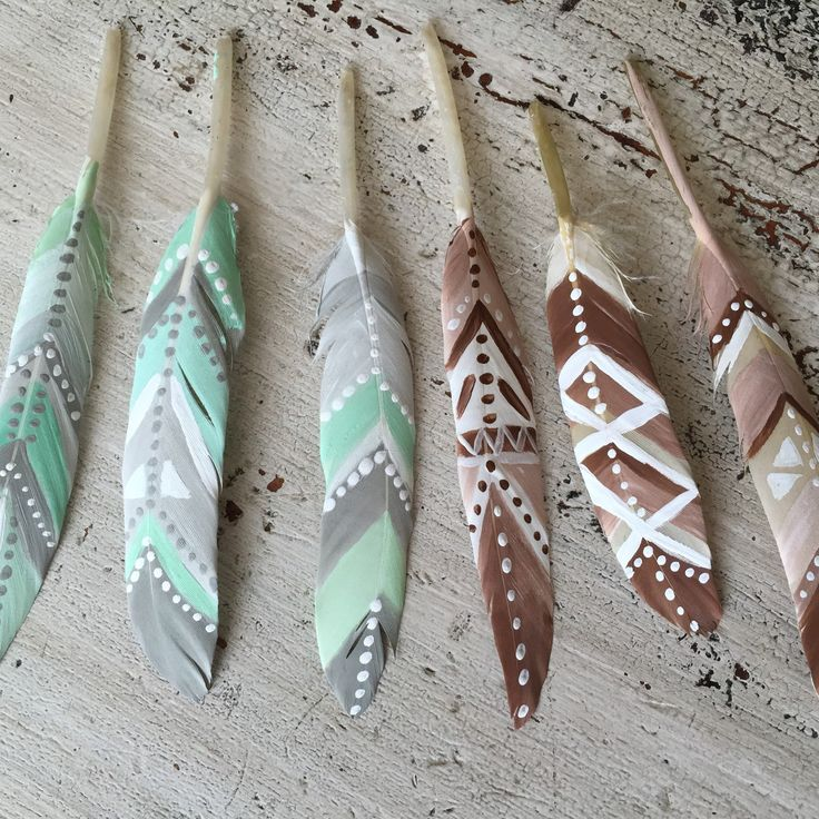 New hand painted feather option for dream catchers  Hand painted feathers Boho feathers