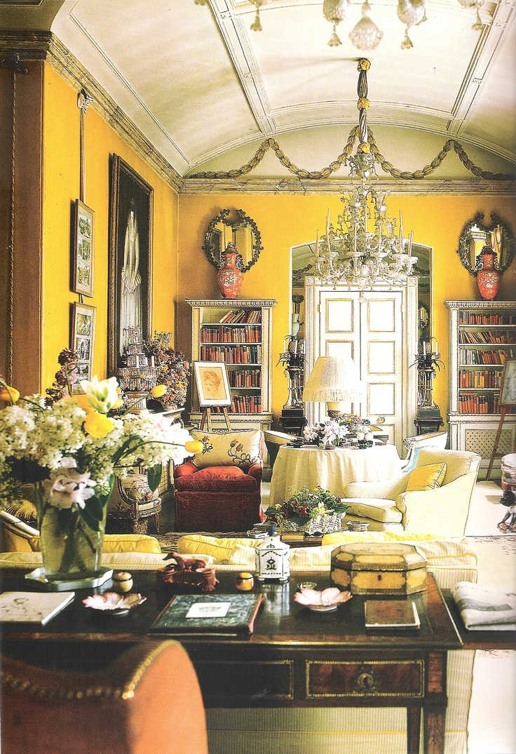 Nancy Lancaster Famous Yellow Room Avery Row London