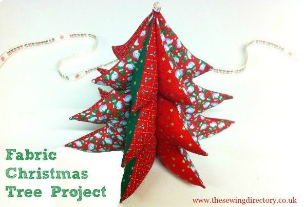Christmas Tree Sewing Project For Beginners Fabric