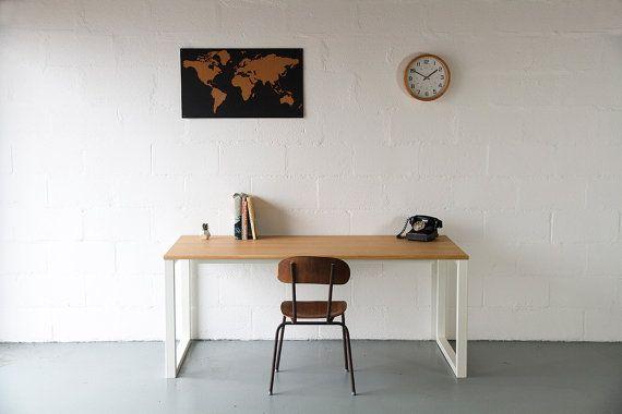 Desk In Oak Home Office Desk Writing Desk by CordIndustries