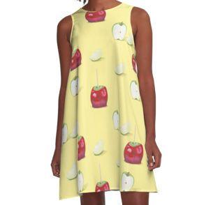 Toffee Apple Pattern - A-Line Dress