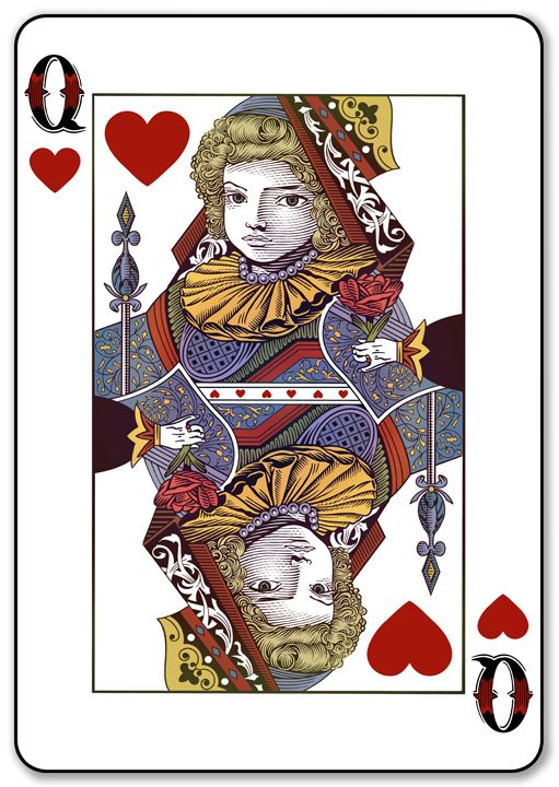 queen of hearts card template - photo #26