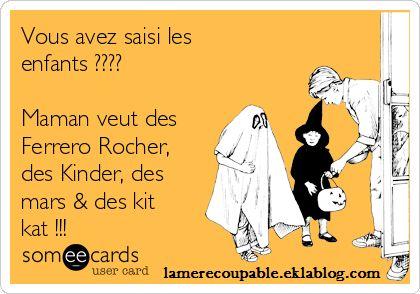 Halloween et mère coupable