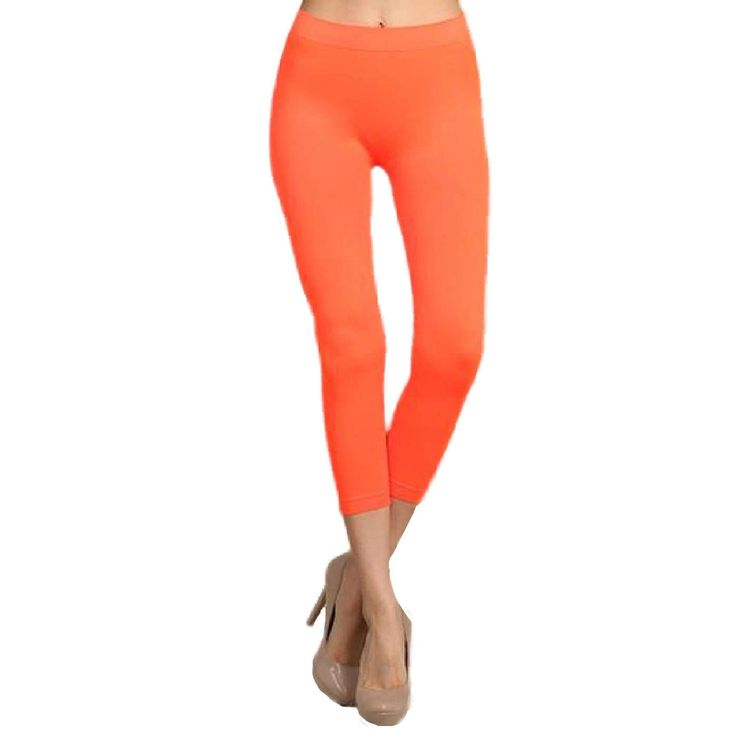 Capri Leggings, Neon Orange