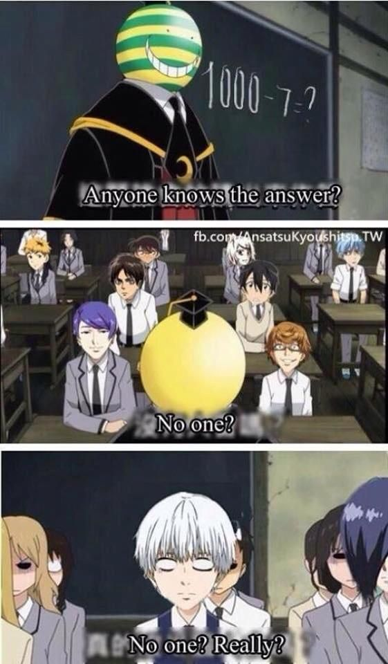 Really ? No one know the answer ?  -  assassination classroom crossover with…