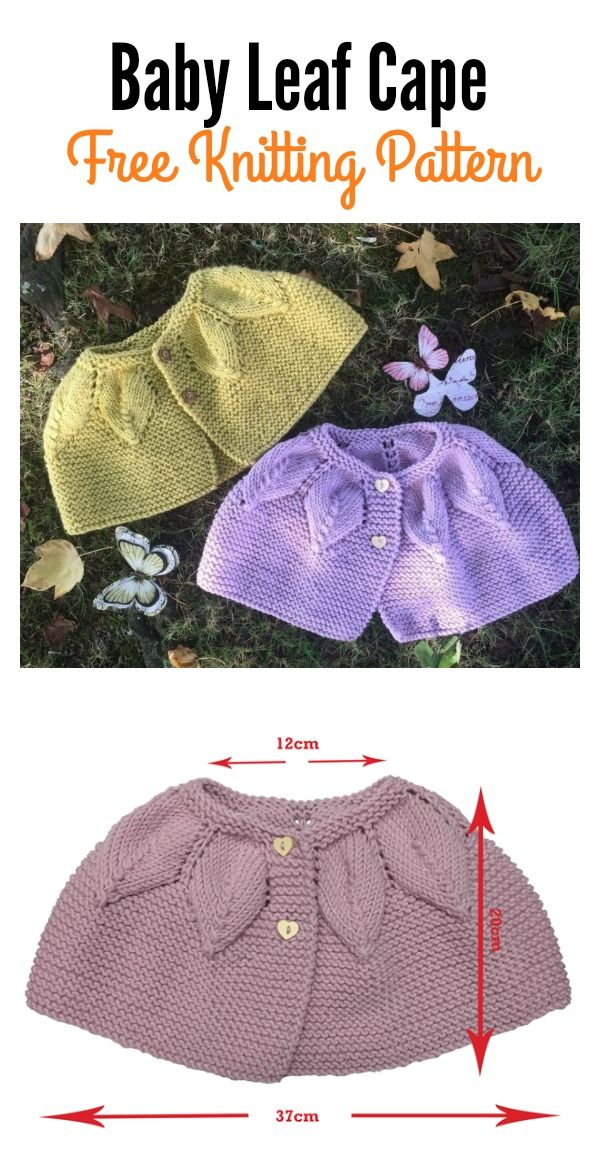 Baby Leaf Cape Free Knitting Pattern Knitting Pinterest