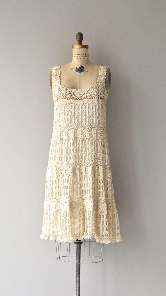 Sausalito macrame dress vintage 1970s dress by DearGolden