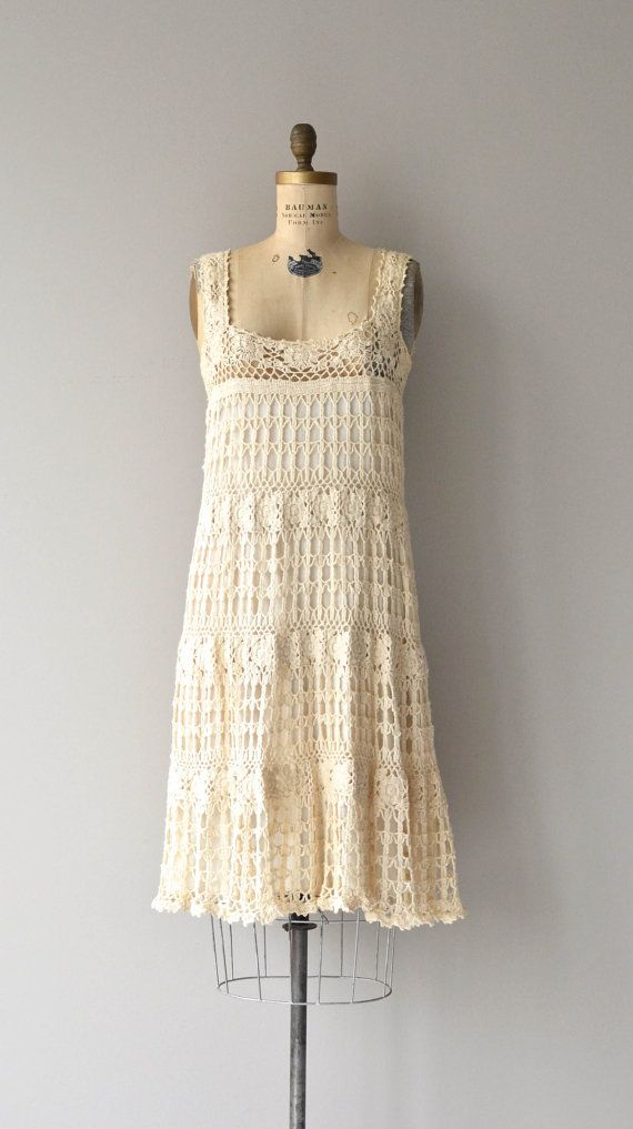 Sausalito macrame dress vintage 1970s dress by DearGolden