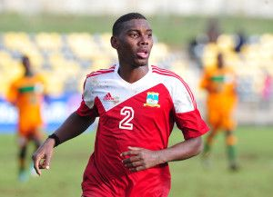 Danny Madelene of Seychelles during the Cosafa u20 Youth Championship Group C game between Seychelles and Zambia at Mafeteng Stadium, Maseru in Lesotho on 9 December 2013 ©Ryan Wilkisky/BackpagePix
