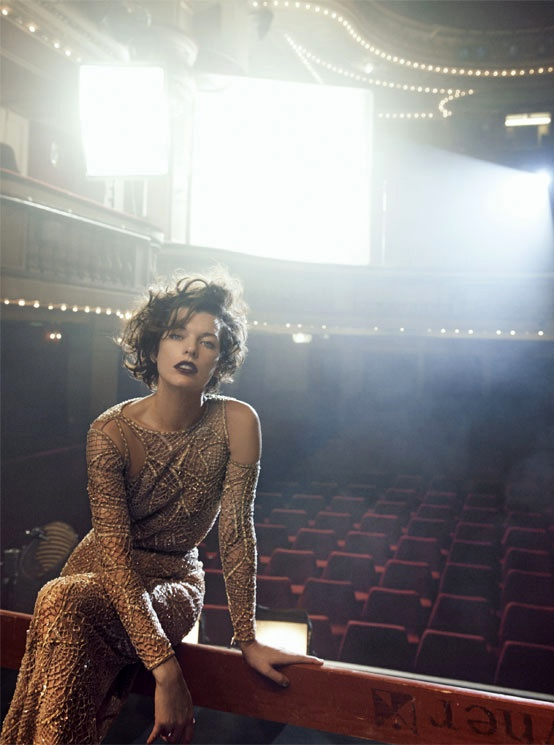 Milla Jovovich by Peter Lindbergh for Vogue Italia September 2012