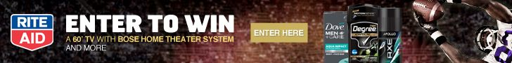 Enter to win an entertainment system or Rite Aid gift card