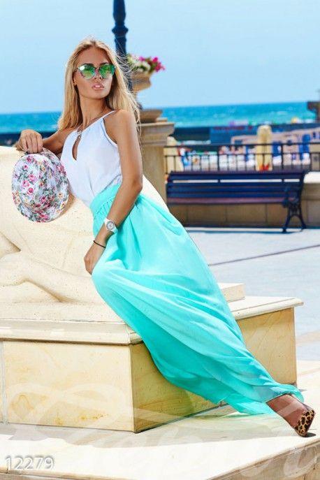 Gepur | Шифоновое платье макси арт. 12279 Цена от производителя, достоверные описание, отзывы, фото
