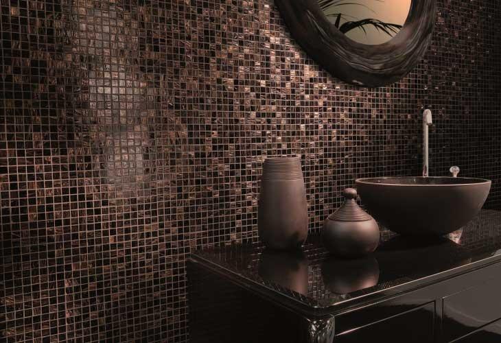 Mosaico di vetro bagno notte mosaici bagno pinterest for Mosaico vetro bagno