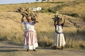 Gogos carrying firewood