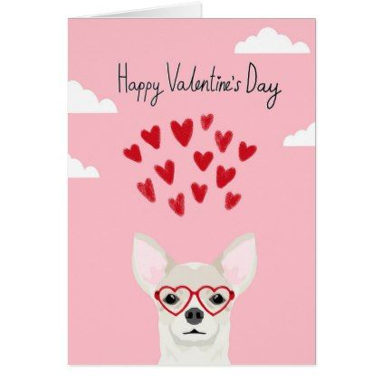 Chihuahua Valentines Love Card   Cute Dog