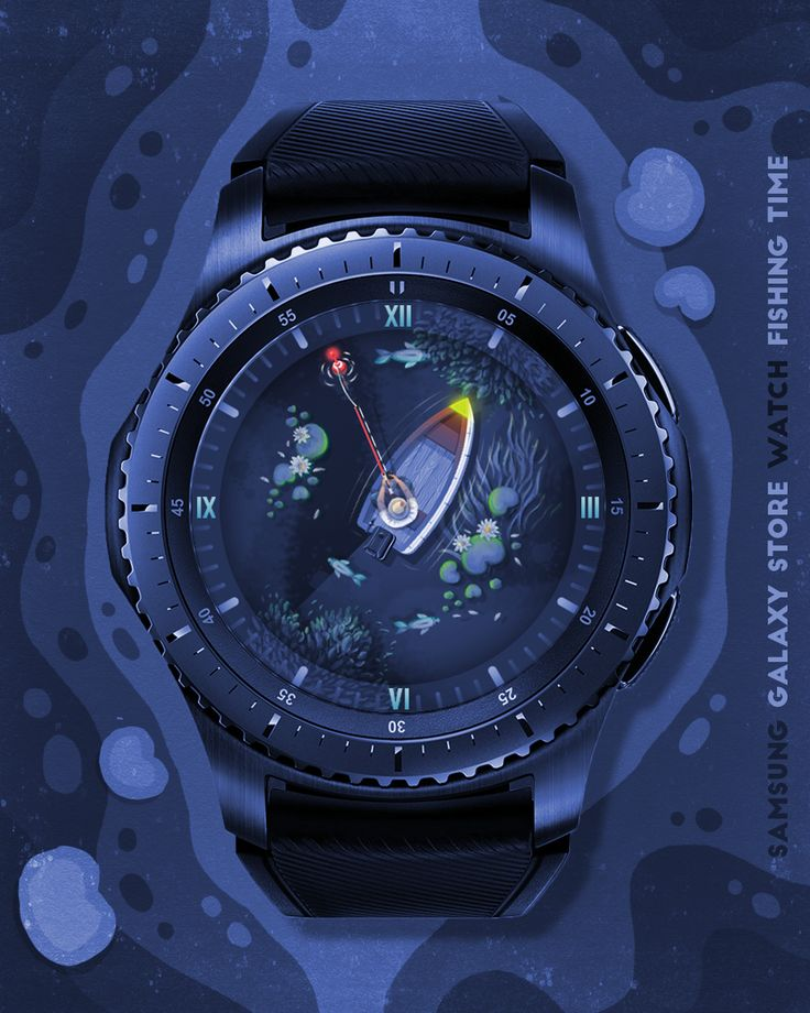 Night mode for the Fishing Time #watchface. Available at the Samsung Galaxy Store as - FISHING… (With images) | Samsung galaxy accessories ...
