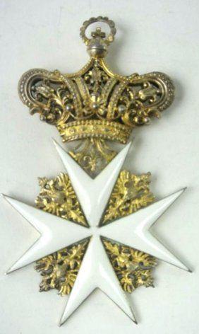 Sterling Silver Cross Of Malta Honor Badge