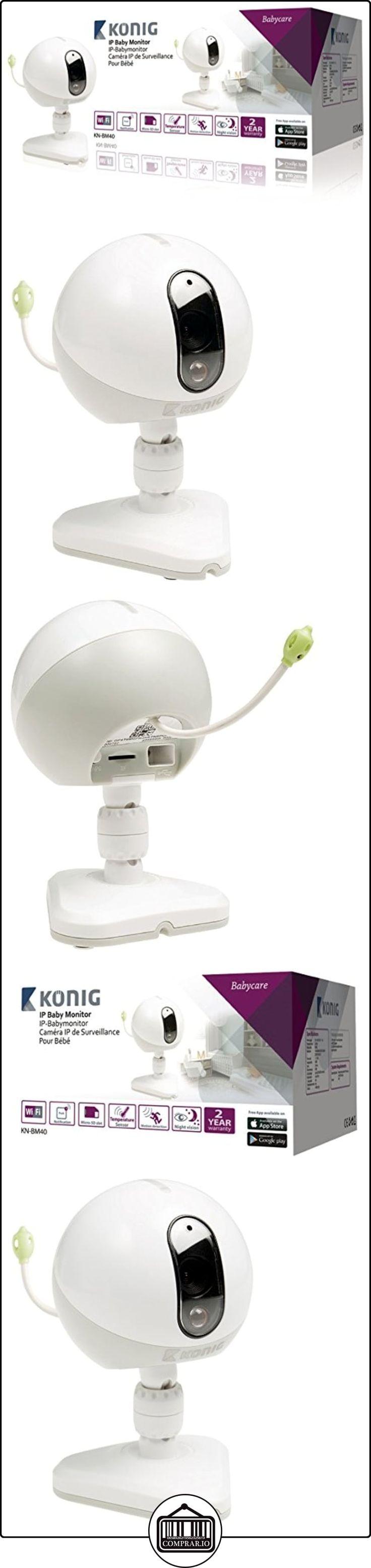 König KN-BM40 video-monitor para bebés - Vigilabebé (Wi-Fi, Corriente alterna, Color blanco, CMOS, IR, 160 x 120,320 x 240,640 x 480 Pixeles)  ✿ Vigilabebés - Seguridad ✿ ▬► Ver oferta: http://comprar.io/goto/B00Q6C649C
