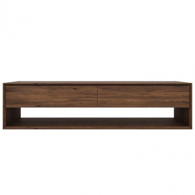 Ethnicraft Walnut Nordic TV Cupboard by Ethnicraft Walnut | Clickon Furniture