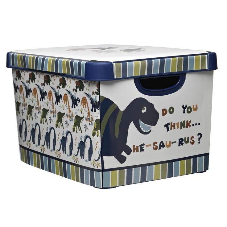 Wilko Dinosaur Storage Box   Storage Boxes     Childrens Textiles from Wilkinson Plus