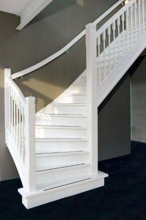 1000 idee n over grijze gang op pinterest hal versieren witte hal en gangen - Witte trap grijs ...