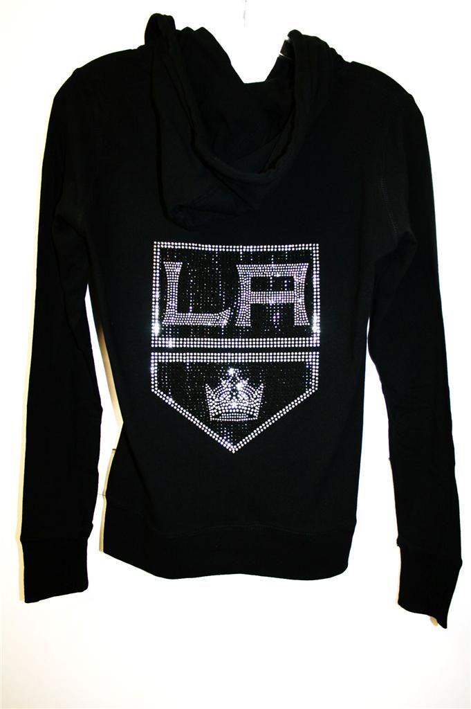 Womens La Kings Stanley Cup Bling Jersey Zip Up Hoodie Tank Top or Tee Fast SHIP   eBay