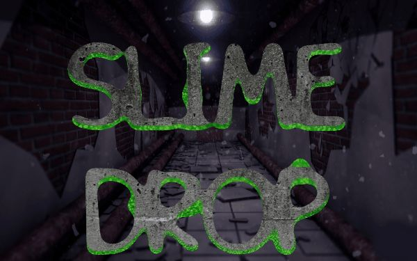 Slime goo logo text animated drop effect