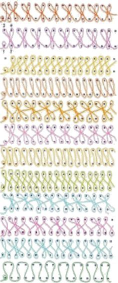 loom knit stitch patterns - Recherche Google