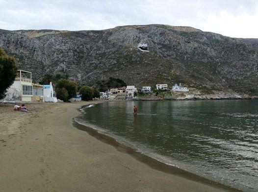 Kalymnos, Greece -- Kantouni Beach. Facing the monastary.