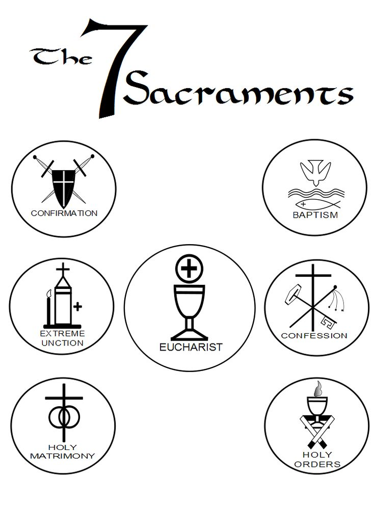 rituals and ceremonies the seven sacraments baptism eucharist reconciliation confirmation marriage holy orders anointing of the rf printables