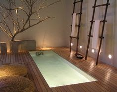 An indoor swim spa connected to the Ensuite bathroom opening out to the private parents courtyard would be my absolute dream!!!!!