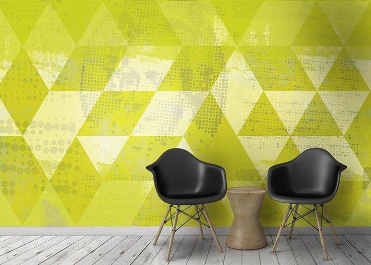 Papier peint à motifs géométriques lavable en vinyle TILING by N.O.W. Edizioni