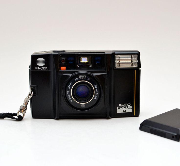 Vintage Minolta AF-S Quartz Auto Focus D 35mm Film Point and Shoot Camera by BigBoyVintage on Etsy