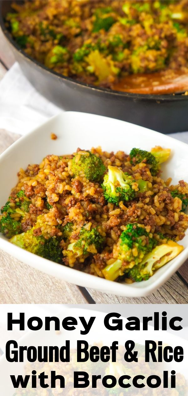 Honey Garlic Ground Beef And Rice With Broccoli Beef And Rice Dinner With Ground Beef Broccoli Rice