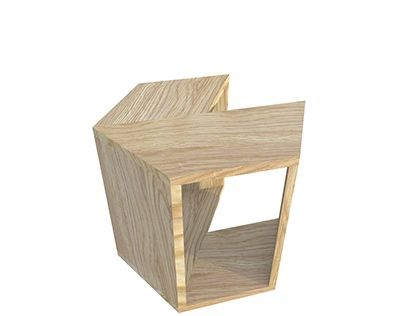 """Check out new work on my @Behance portfolio: """"wooden stool"""" http://on.be.net/1K0UpQ8"""