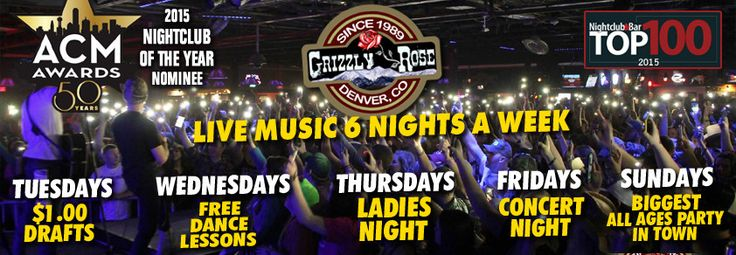 The Grizzly Rose is a country bar, nightclub, and dancehall in Denver, Colorado. We offer live country music at our venue as well as a mechanical bull.