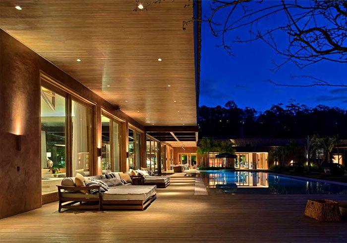 Luxurious Casa Nova Lima with Dramatic Landscape Compositions casa nova lima garden
