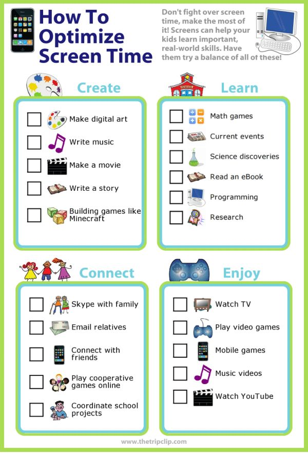 Picture Checklists | Screen time for kids, Screen time ...