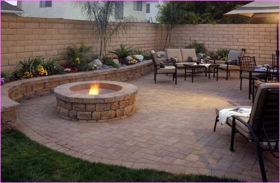 Gallery Of Beautiful Stone Patio Ideas For Backyard